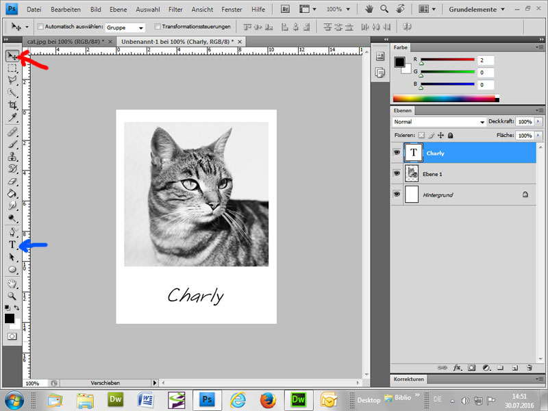 Weisser Rahmen um Bild machen - Passepartout - Photoshop