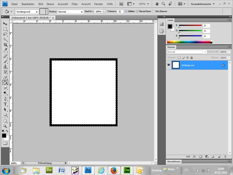 Zerrissenen ausgefransten Rahmen um Bild machen - Anleitung in Photoshop